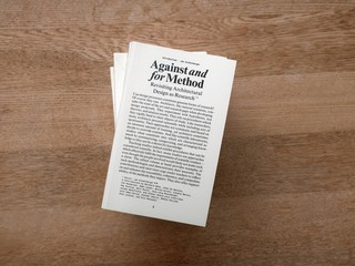 Against and for Method Revisiting Architectural Design as Research